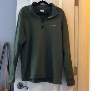 Men's extra large green Columbia sweater